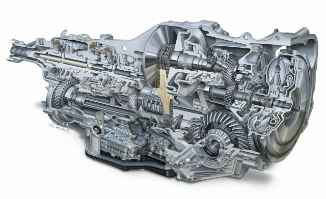 Subaru Lineartronic Continuously Variable Transmission System cutaway